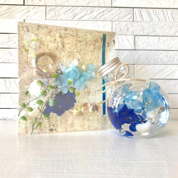 ハーバリウム キット 花材+ボトル+オイル  選べる3色カラー プリザーブドフラワーキット kotohana 05