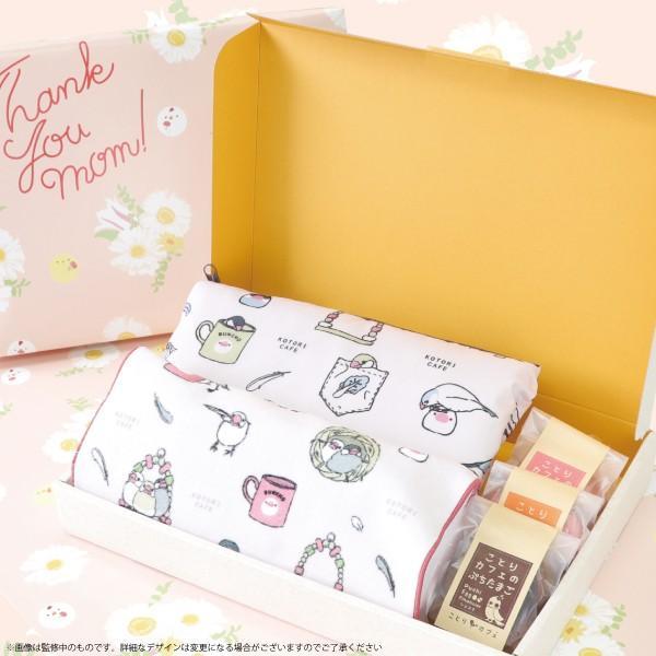 数量限定【ことりカフェ】2019年 母の日 ギフト ショッピングバッグセット 文鳥ver. ピンク