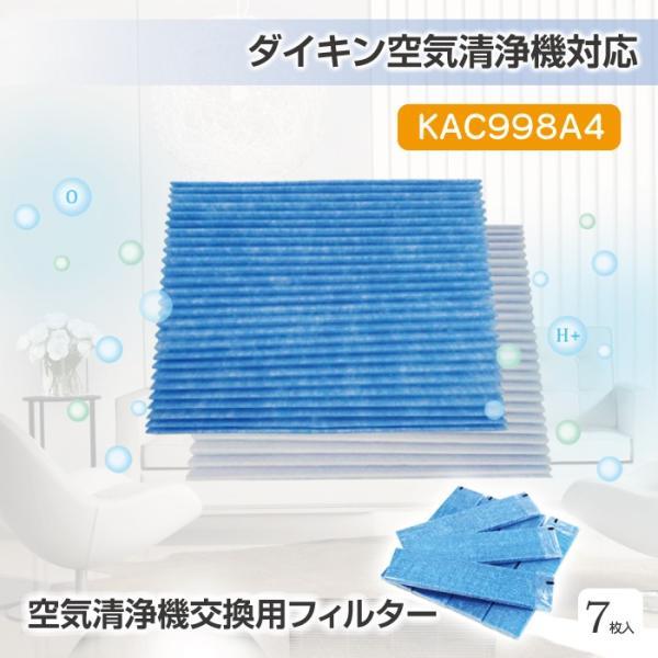 空気清浄機 フィルター KAC998A4   kac998a4 交換用プリーツフィルター 互換品 対応品番 KAC998A4(KAC979A4の後継品) (7枚入り)