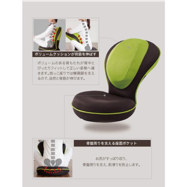 姿勢矯正 骨盤矯正 座椅子 腰痛 猫背 グーン 椅子 リクライニング 背筋がGUUUN 美姿勢座椅子|kotubanshop|06