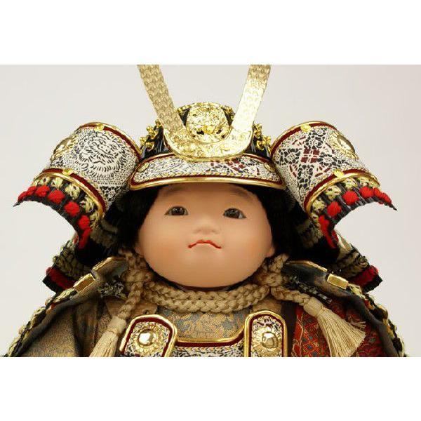 五月人形 初節句 子供大将飾り 武者人形 子供の日 端午の節句 送料無料 「健 (着 褄取)」 おしゃれ オシャレ koubou-tensho 02