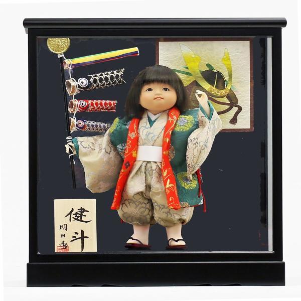 五月人形 初節句 コンパクト ケース飾り ケース 武者人形 子供の日 端午の節句 2019年新作 童人形5号 おしゃれ オシャレ|koubou-tensho