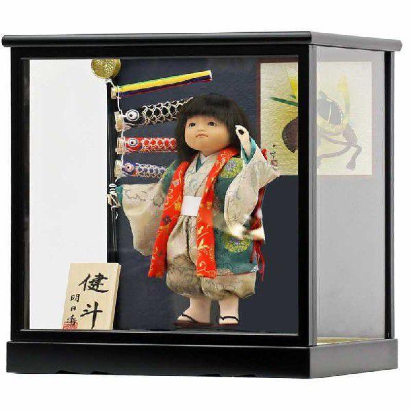 五月人形 初節句 コンパクト ケース飾り ケース 武者人形 子供の日 端午の節句 2019年新作 童人形5号 おしゃれ オシャレ|koubou-tensho|02