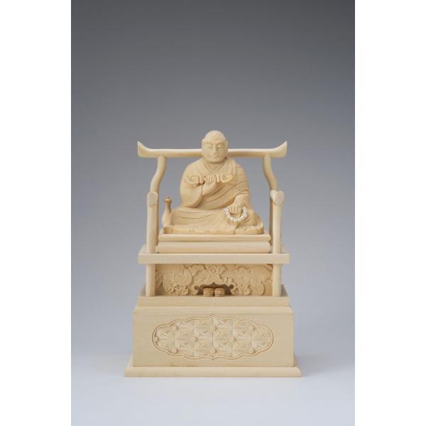 桧木 弘法大師 1.8寸 43-4 仏像 木彫り フィギュア オブジェ インテリア仏像 置き物 インテリアオブジェ 仏壇 仏具