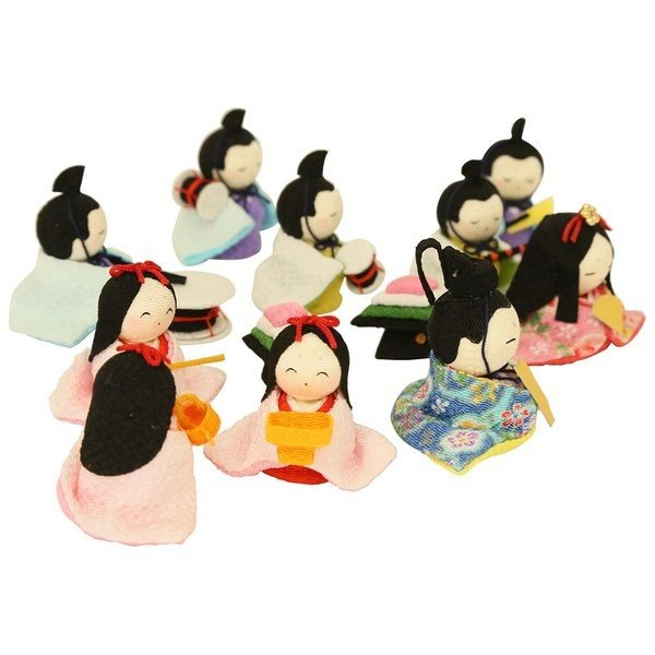 雛人形 おしゃれ ひな人形 花円雛 10人揃いちりめん 雛人形 コンパクト 小さい ミニ お雛様 ひな祭り 龍虎堂 リュウコドウ|koubou-tensho|11