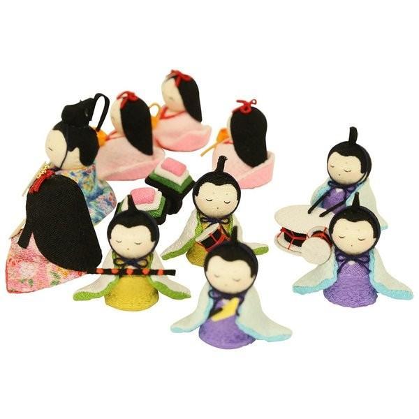 雛人形 おしゃれ ひな人形 花円雛 10人揃いちりめん 雛人形 コンパクト 小さい ミニ お雛様 ひな祭り 龍虎堂 リュウコドウ|koubou-tensho|12