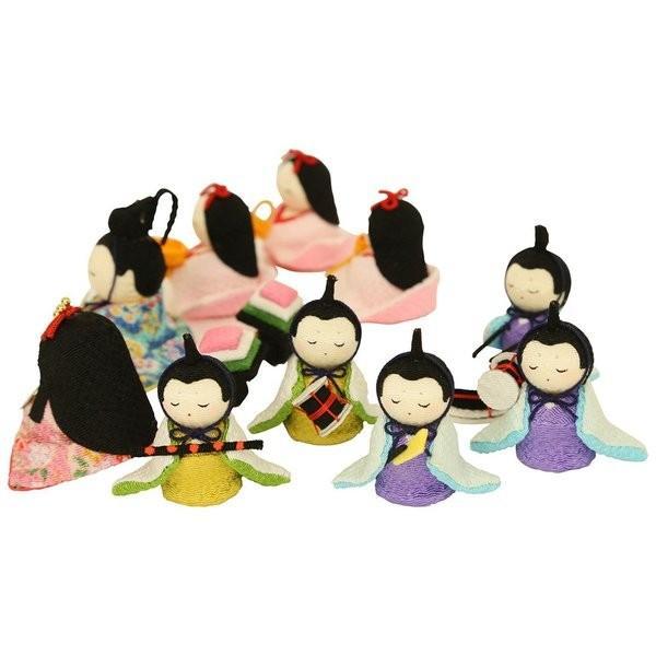 雛人形 おしゃれ ひな人形 花円雛 10人揃いちりめん 雛人形 コンパクト 小さい ミニ お雛様 ひな祭り 龍虎堂 リュウコドウ|koubou-tensho|13