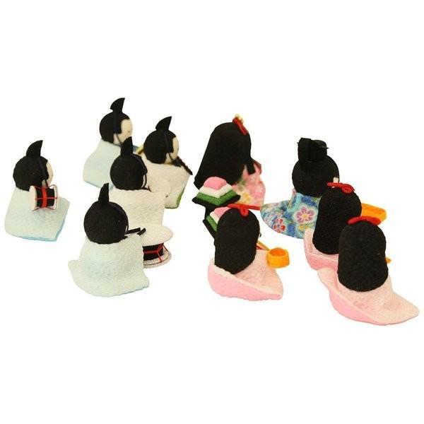 雛人形 おしゃれ ひな人形 花円雛 10人揃いちりめん 雛人形 コンパクト 小さい ミニ お雛様 ひな祭り 龍虎堂 リュウコドウ|koubou-tensho|14