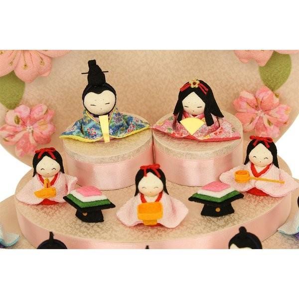 雛人形 おしゃれ ひな人形 花円雛 10人揃いちりめん 雛人形 コンパクト 小さい ミニ お雛様 ひな祭り 龍虎堂 リュウコドウ|koubou-tensho|04