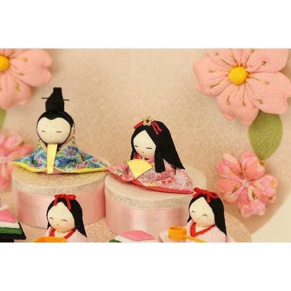 雛人形 おしゃれ ひな人形 花円雛 10人揃いちりめん 雛人形 コンパクト 小さい ミニ お雛様 ひな祭り 龍虎堂 リュウコドウ|koubou-tensho|05