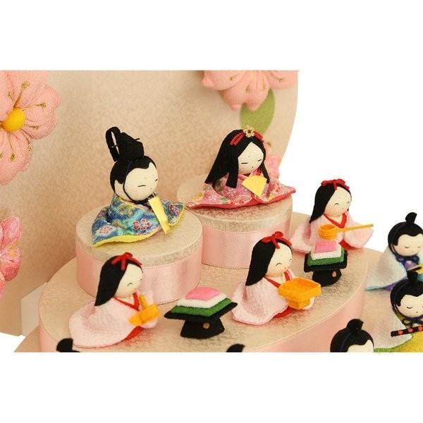 雛人形 おしゃれ ひな人形 花円雛 10人揃いちりめん 雛人形 コンパクト 小さい ミニ お雛様 ひな祭り 龍虎堂 リュウコドウ|koubou-tensho|06