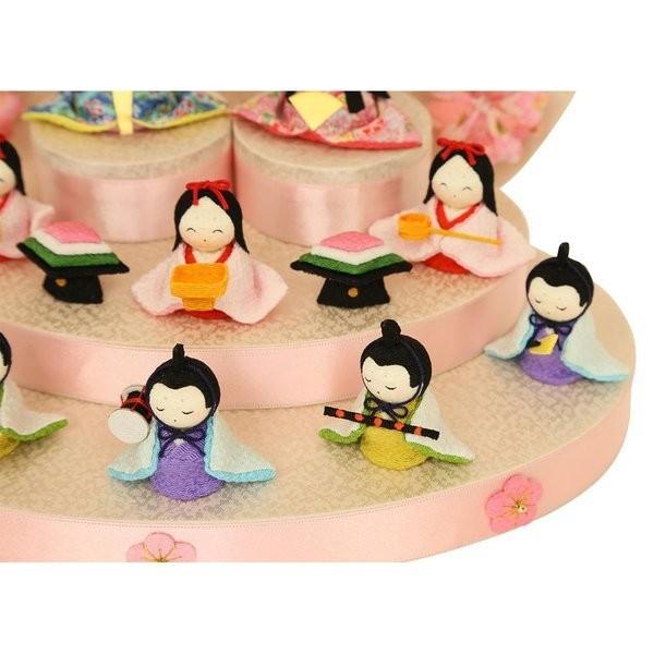 雛人形 おしゃれ ひな人形 花円雛 10人揃いちりめん 雛人形 コンパクト 小さい ミニ お雛様 ひな祭り 龍虎堂 リュウコドウ|koubou-tensho|07
