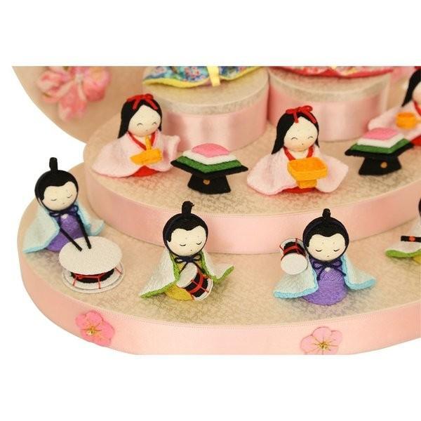 雛人形 おしゃれ ひな人形 花円雛 10人揃いちりめん 雛人形 コンパクト 小さい ミニ お雛様 ひな祭り 龍虎堂 リュウコドウ|koubou-tensho|08