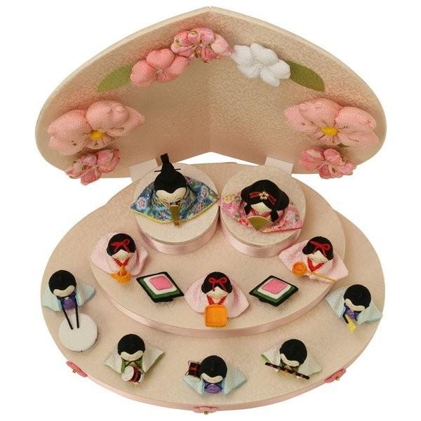 雛人形 おしゃれ ひな人形 花円雛 10人揃いちりめん 雛人形 コンパクト 小さい ミニ お雛様 ひな祭り 龍虎堂 リュウコドウ|koubou-tensho|09