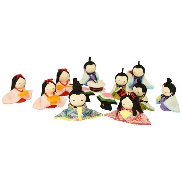 雛人形 おしゃれ ひな人形 花円雛 10人揃いちりめん 雛人形 コンパクト 小さい ミニ お雛様 ひな祭り 龍虎堂 リュウコドウ|koubou-tensho|10