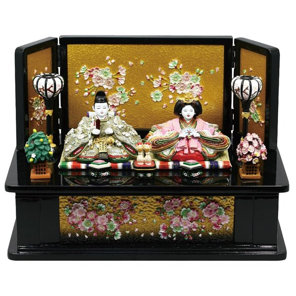 丹青堂-若葉中雛 高床飾り台 黒