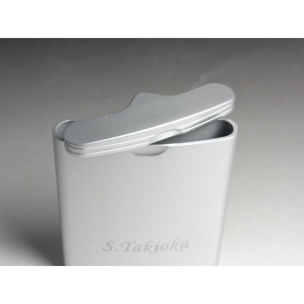 父の日 プレゼント 2021年 名入れ携帯灰皿 WINDMILLウインドミルハニカム3スライド式シルバー
