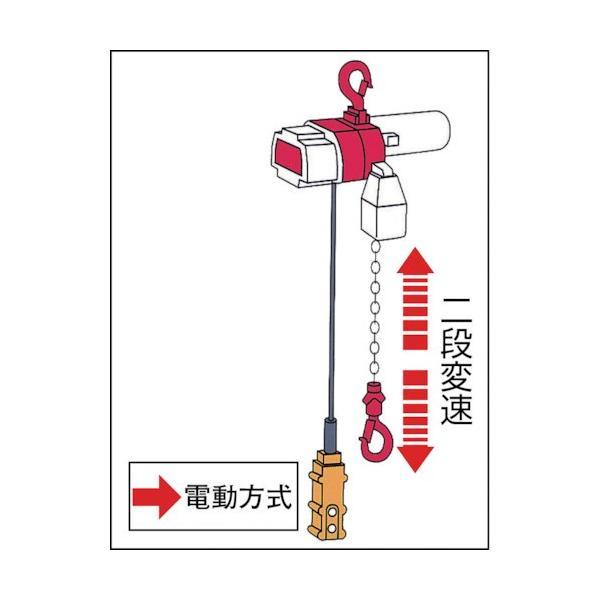 キトー セレクト 電気チェーンブロック 2速 100kg(ST)x3m ED10ST2219|kouei-sangyou|03