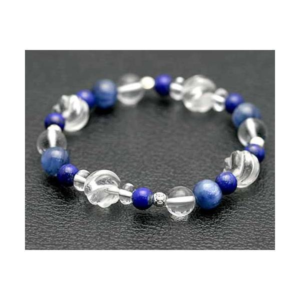 ブレスレット カイヤナイト ラピスラズリ 水晶 パワーストーン 天然石 カヤナイト ブレスレット