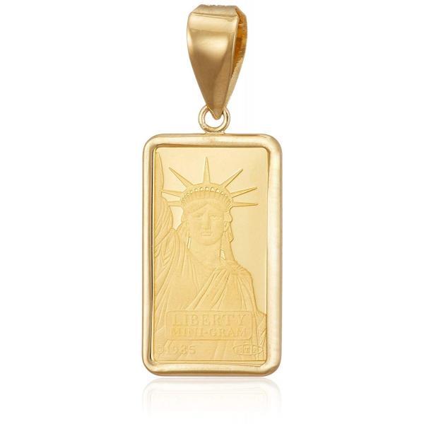 新品 送料無料 K24 K18 YG リバティー ペンダント トップ 1g コイン ゴールド 金 金貨 純金 メンズ レディース ユニセックス