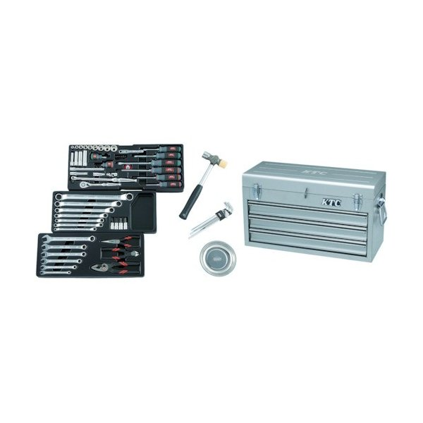 KTC 9.5sq.工具セット(チェストケース) (1S) 品番:SK3650XS