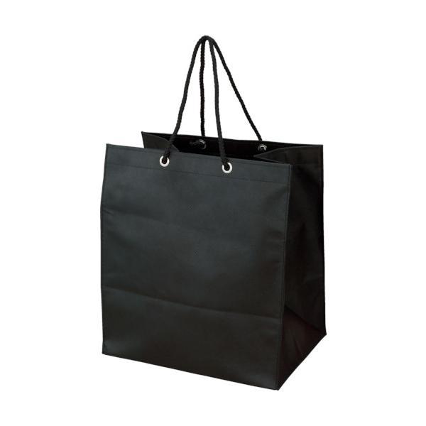 トラスコ 不織布バッグ 黒 315×355×275MM (10枚入) (1袋) 品番:TNFB-10-X