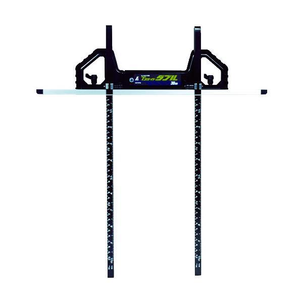 シンワ 丸ノコガイド定規Tスライドダブル 30cm(併用目盛・突き当て可動式) (1本) 品番:73702