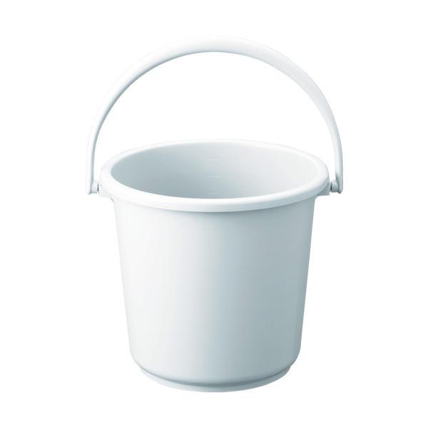 トラスコ PPカラーバケツ 10L 白 (1個) 品番:TPPB-10-W