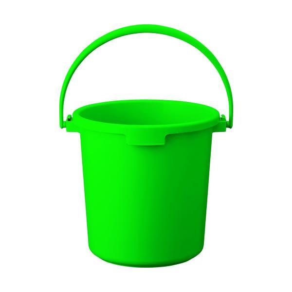 トラスコ PPカラーバケツ 22L 緑 (1個) 品番:TPPB-22-GN