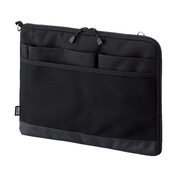 リヒト A4バッグインバッグ(ヨコ型) ブラック (1個) 品番:A7681-24