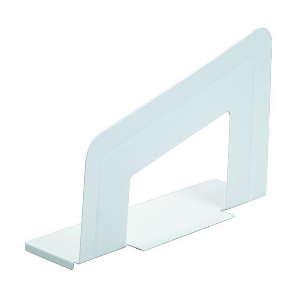 リヒト ブックエンド(マグネット付) 白 (1枚) 品番:A7350-0