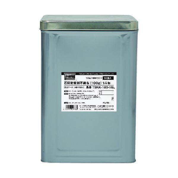 TRUSCO 石灰乾燥剤 (耐水、耐油包装) 100g 90個入 1斗缶 TSKK-100-18L≪お取寄商品≫≪代引不可≫