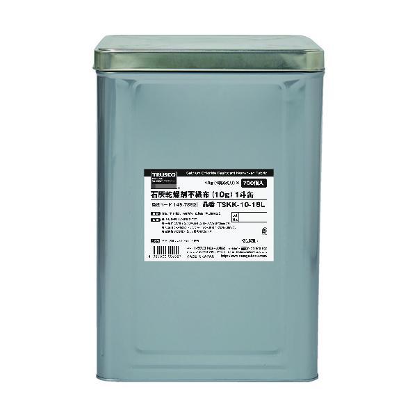 TRUSCO 石灰乾燥剤 (耐水、耐油包装) 10g 700個入 1斗缶 TSKK-10-18L≪お取寄商品≫≪代引不可≫