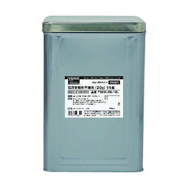 TRUSCO 石灰乾燥剤 (耐水、耐油包装) 20g 350個入 1斗缶 TSKK-20-18L≪お取寄商品≫≪代引不可≫