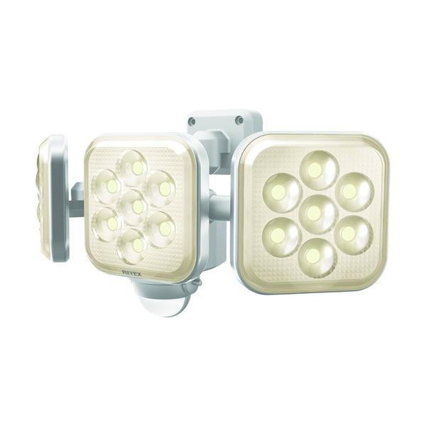 ライテックス 8W 3灯フリーアーム式 LEDセンサーライト電球色 LED-AC3025≪お取扱終了予定商品≫