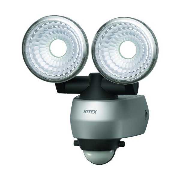 ライテックス 7.5W 2灯 LEDセンサーライト LED-AC315