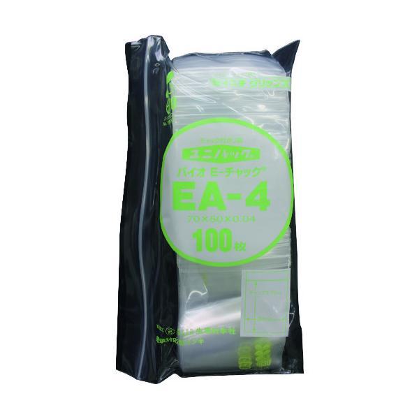 セイニチ 「ユニパック」バイオEチャック規格品(チャック付ポリエチレン袋) EA−4 70×50×0.04 EA-4-100