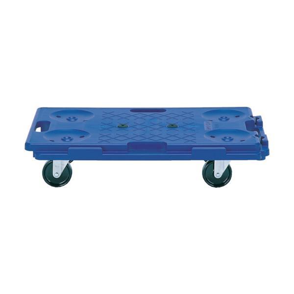 アイケー 樹脂製連結平台車 均等荷重150kg 4輪自在 R115≪代引不可≫