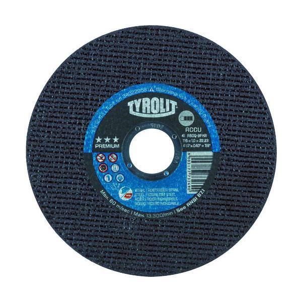 TYROLIT コードレスグラインダー対応切断砥石 ACCU 125X1X2 34022959
