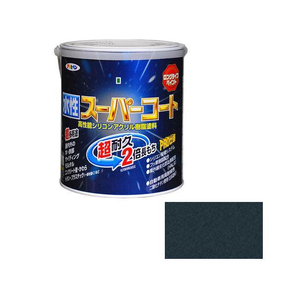 水性スーパーコート 1.6L (銀黒) ≪お取寄商品≫