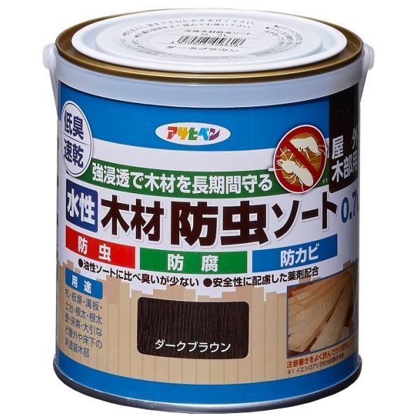 水性木材防虫ソート 0.7L ダークブラウン ≪お取寄商品≫