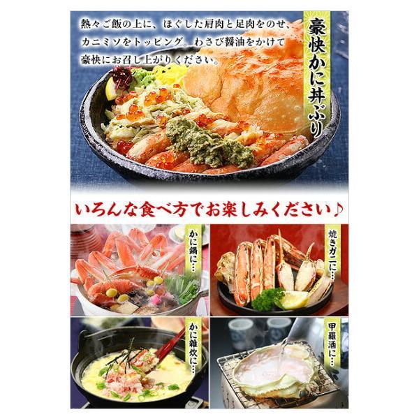 ズワイガニ カニ かに 蟹 ボイルずわい蟹 姿 750g前後×4尾入 特大サイズ|kouragumi|05