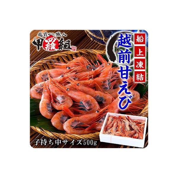 エビ 甘エビ 海老 越前 甘えび(子持ち中サイズ)500g以上 約40尾入 あまえび アマエビ|kouragumi