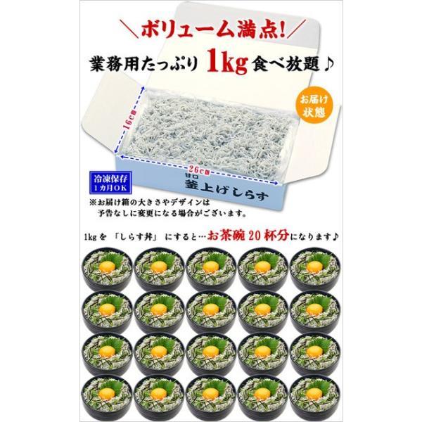 (シラス しらす) 無添加&無漂白の一級品! 静岡県産 釜揚げしらす 業務用たっぷり1kg 食べ放題|kouragumi|02