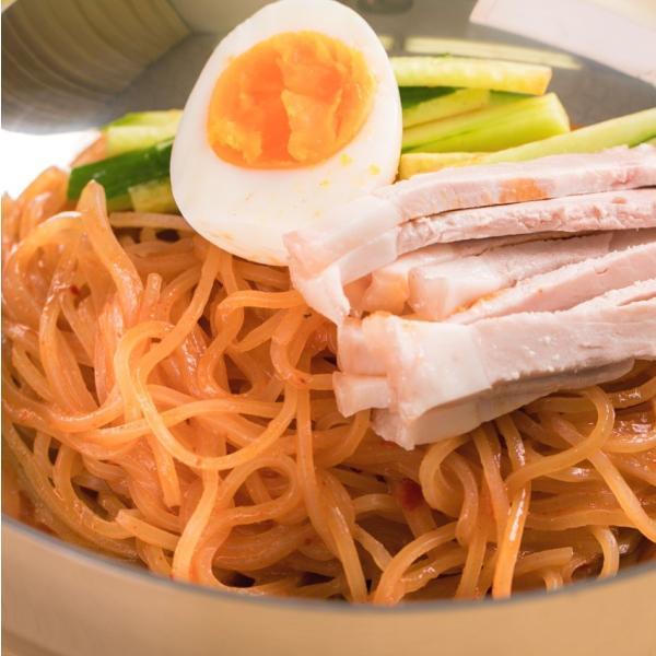 ポイント消化 食品 ビビン麺 送料無料 冷麺 500円ポッキリ ビビン麺2食セット セール 甘辛いビビンバソースをかけて食べる韓国ビビン冷麺|kourai5920