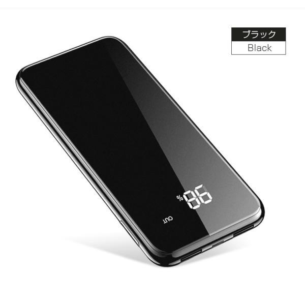 モバイルバッテリー Qi ワイヤレス充電器 10000mAh 薄型 大容量 軽量  LED 残量表示 iPhoneX iPhone X iPhone8 Galaxy S6 S7 S8 S8+ など対応|kouseisyouten|11
