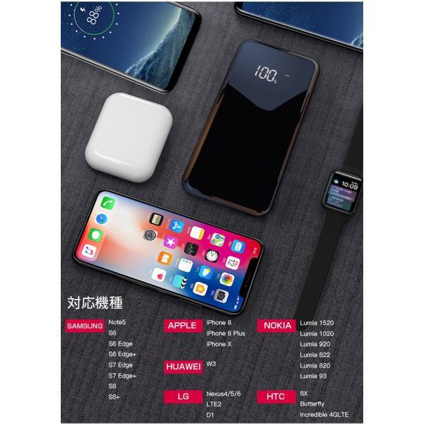 モバイルバッテリー Qi ワイヤレス充電器 10000mAh 薄型 大容量 軽量  LED 残量表示 iPhoneX iPhone X iPhone8 Galaxy S6 S7 S8 S8+ など対応|kouseisyouten|12