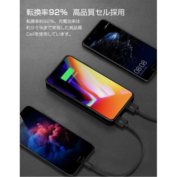 モバイルバッテリー Qi ワイヤレス充電器 10000mAh 薄型 大容量 軽量  LED 残量表示 iPhoneX iPhone X iPhone8 Galaxy S6 S7 S8 S8+ など対応|kouseisyouten|13