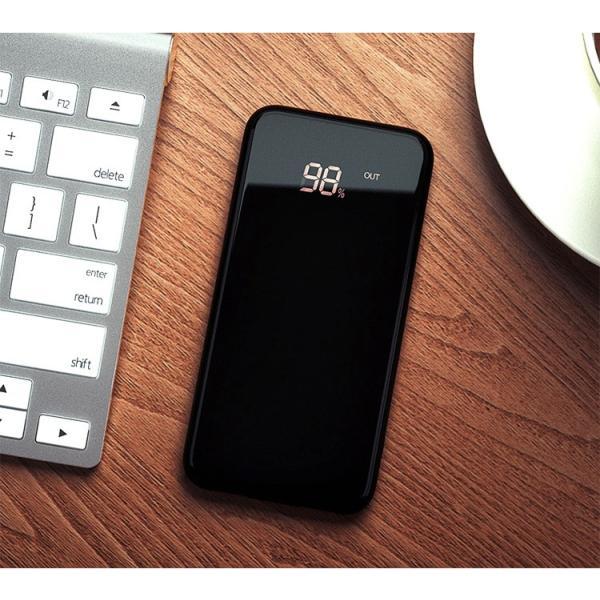 モバイルバッテリー Qi ワイヤレス充電器 10000mAh 薄型 大容量 軽量  LED 残量表示 iPhoneX iPhone X iPhone8 Galaxy S6 S7 S8 S8+ など対応|kouseisyouten|14