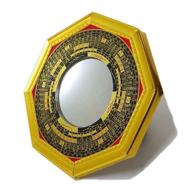八卦羅盤凸面鏡 金(大)